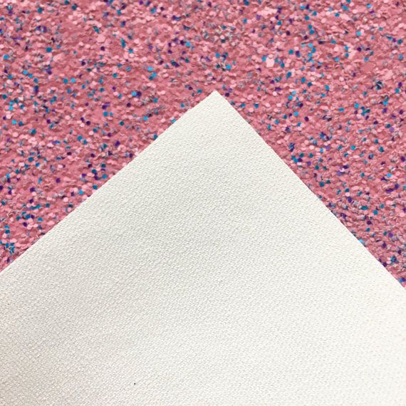 $5 FLAT RATE US SHIPPING -- This listing is for one 8x11 sheet of glitter canvas. This material is NOT paper, it is woven canvas, see 3rd photo for details. This material is hand cut to the approximate size of a standard sheet of printing paper (A4) The color of this chunky glitter