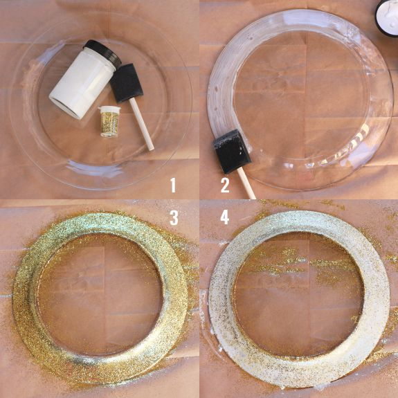 Gold glitter dollar store charger plates tutorial   thehappytulip comBest 25  Wedding plates ideas on Pinterest   Gold table settings  . Tableware For Weddings. Home Design Ideas