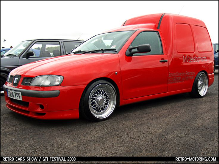 Red VW Caddy MK2 (actually Seat Inca) on BBS RS wheels