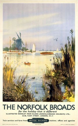 The Norfolk Broads - Watercolour by National Railway Museum