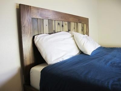 walnut / reclaimed platform bed