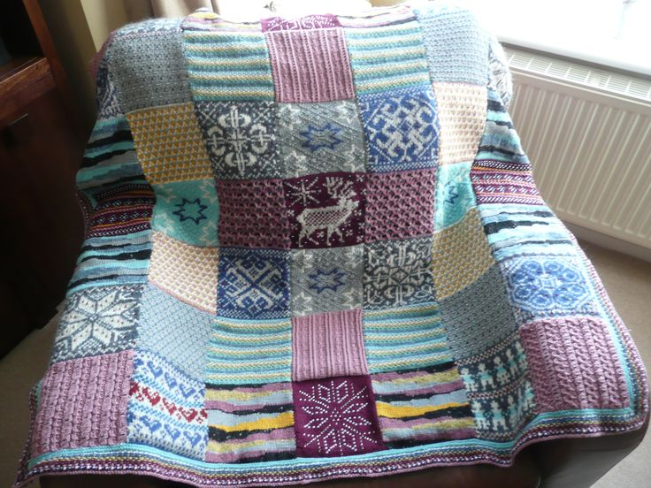 Just Completed the 2013 Debbie Abrahams' Mystery Blanket- A Nordic Adventure