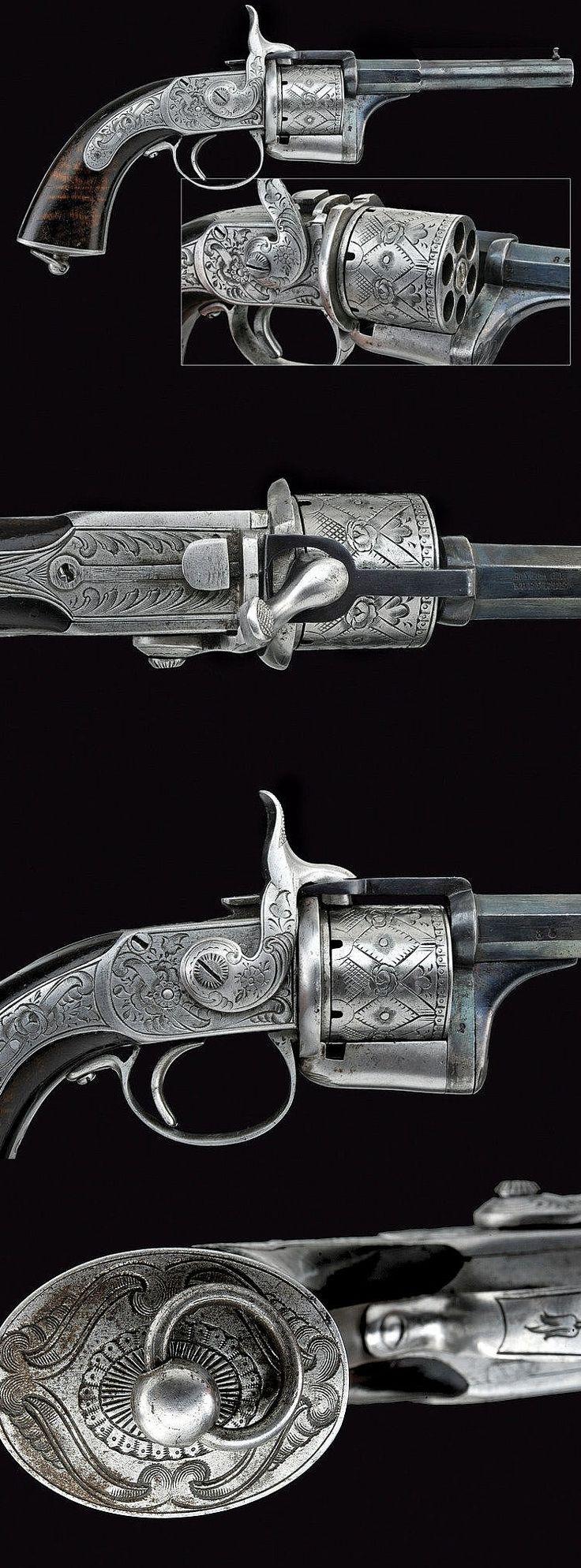 "A rare ""Eyraud"" pin-fire revolver, France 3rd quarter 19th century."