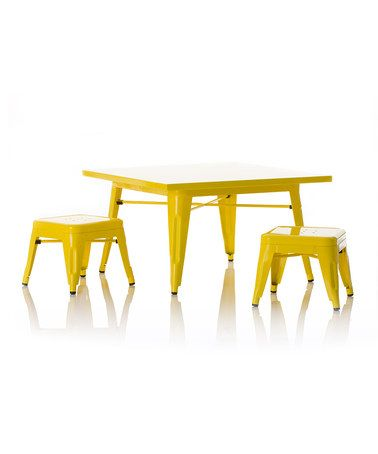 Yellow Industry Indoor/Outdoor Table & Chair Set by little nest {want it!! <3}