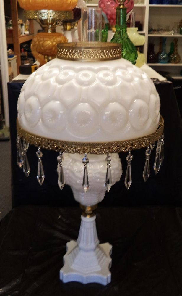 Fenton Art Glass Moon And Star 1000 Mi Style Table Lamp Ad
