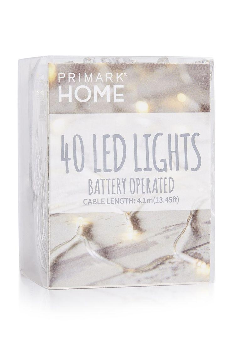 Primark - 40 luzes LED a pilhas