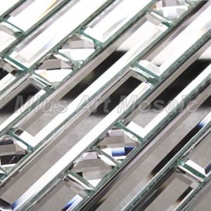 Strip Mirror Glass Mosaic Tile for Kitchen Backsplash Decoration A47074