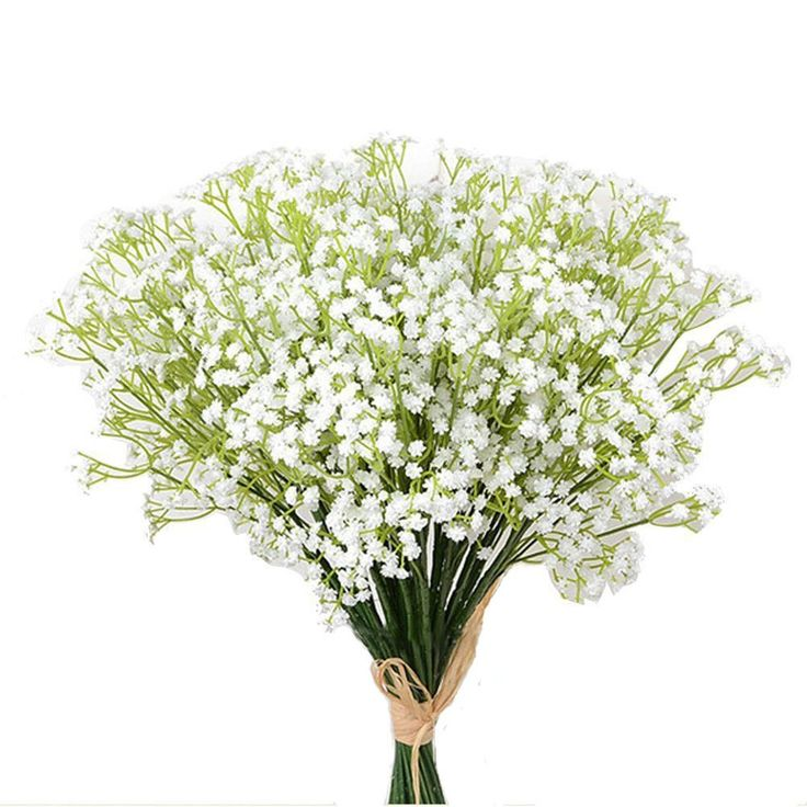 Meiliy 10pcs Plastic Artificial Baby Breath Gypsophila Flower for Home Wedding Office Party Decoration, 23.6''