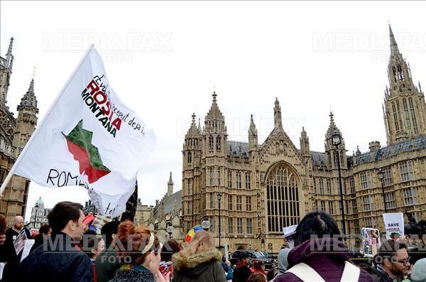 MEDIAFAX Foto: Rosia Montana, London Protest 2013 © Cristina Schek