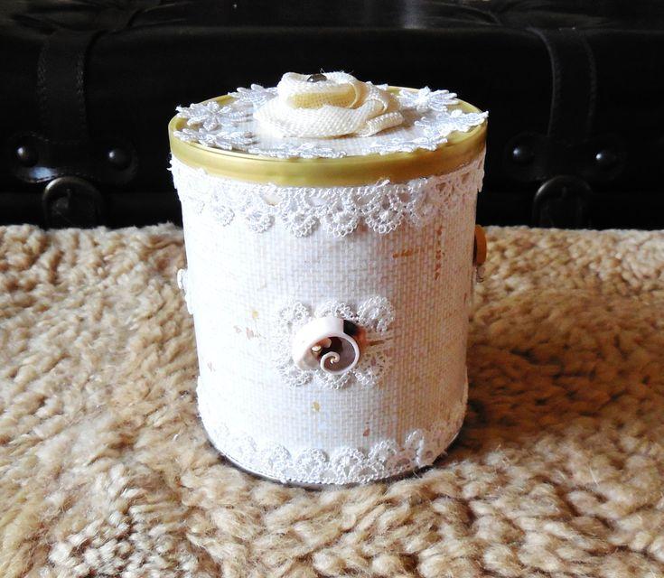Trinket Box...Chocolate Box...Jewelry Box...Dried Flowers Vase...Shabby Chic Decorative Box...Beach Style Cottage Chic Box... by AlinasArt on Etsy