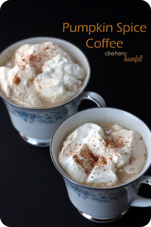 Need a warm after dinner coffee? Try this #pumpkin spice coffee to enjoy. Make by the mug, or for a crowd. from #dietersdownfall.com