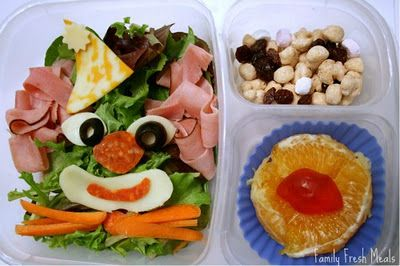 Bento Love: Clowning Around salad for lunch!