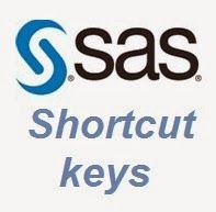 There are various shortcut keys used in SAS to help the programmer navigate the SAS programming steps easily......... http://www.epoch.co.in