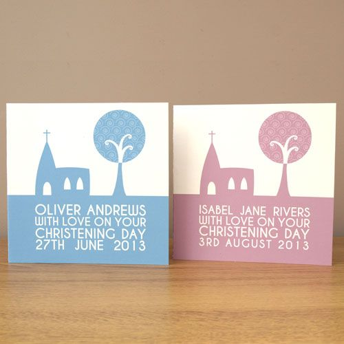 Personalised Christening £3.99 by Doodlebump. 50% off when purchased with any print.