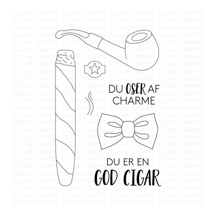Du oser af charme - Three scoops stempel