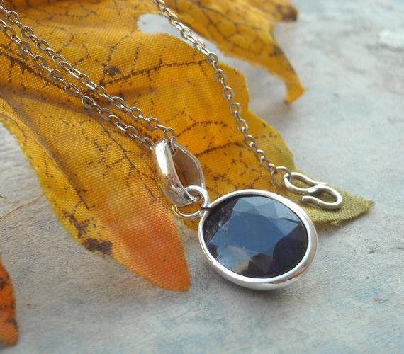 Dark blue sapphire necklace!