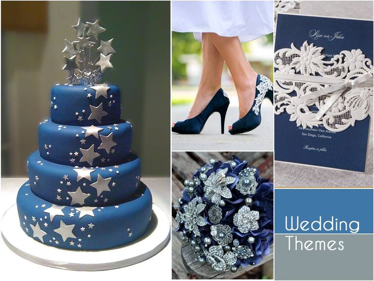 Bring out the magic of blue with a glint of silver with this mesmerising combination. It'll add a tranquil touch to your summer wedding! #WeddingThemes
