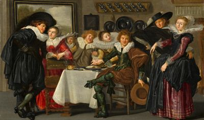 Merry Company | 1633 | Mauritshuis | Public Domain Marked