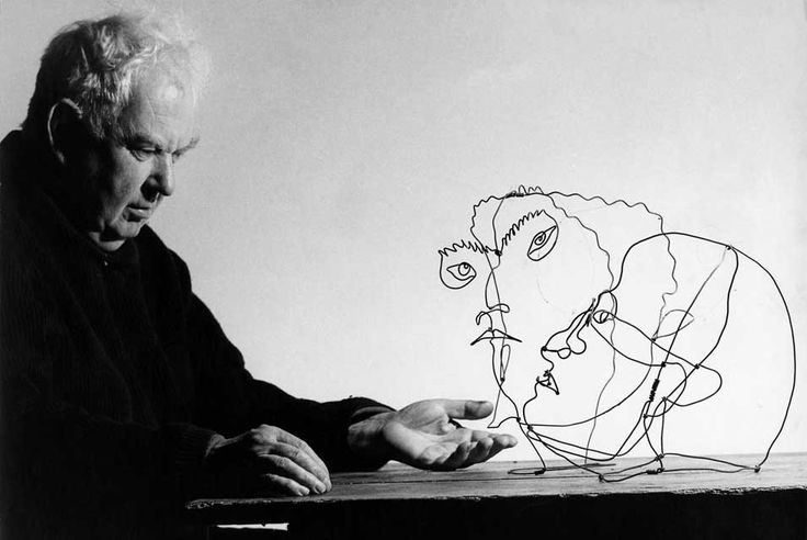 "firsttimeuser:    Alexander Calder with ""Edgar Varese"" and ""Untitled"", 1963"