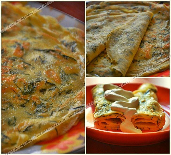 Блинчики с твердым сыром и укропом пошаговый рецепт с фото