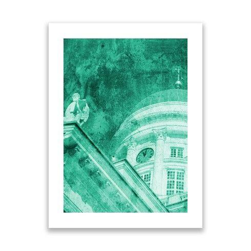 'Helsinki Vintage Teal' - Print @zippiuk by hoganfinland at zippi.co.uk. #photography #image #finland #church #helsinki #teal #green #zippi #print #hogan #helsinkicathedral #helsingfors #finlandia #vintageprints #vintage #texture
