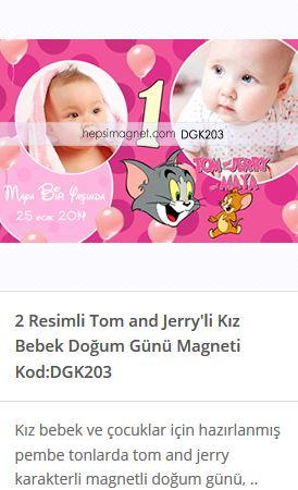 Bebeğiniz için hazırlatabileceğiniz 2 Resimli Tom ve Jery temalı Doğum Günü Magneti. Doğum günü magnetleri farklı yaş grupları için hazırlatabilirsiniz.Magnet fiyatları ve çeşitleri sitemizden ulaşabilirsiniz.  http://www.hepsimagnet.com/2-resimli-tom-ve-jerry-likiz-bebek-dogum-gunu-magneti/  #tomvejerry #tomvejerrymagnetleri #tomvejerryhediye #tomvejerryparti #doğumgünümagnetleri #1yaşmagnetleri #bebekmagnetlerifiyatları #doğumgünümagnetlerifiyatları #bebekdoğumgünümagnetler