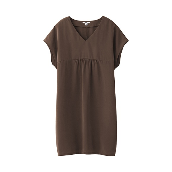 uniglo WOMEN V NECK SHORT SLEEVE SACK TUNIC     $ 39.90