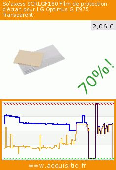 So'axess SCRLGF180 Film de protection d'écran pour LG Optimus G E975 Transparent (Accessoire). Réduction de 70%! Prix actuel 2,06 €, l'ancien prix était de 6,95 €. https://www.adquisitio.fr/so-axess/scrlgf180-film-protection