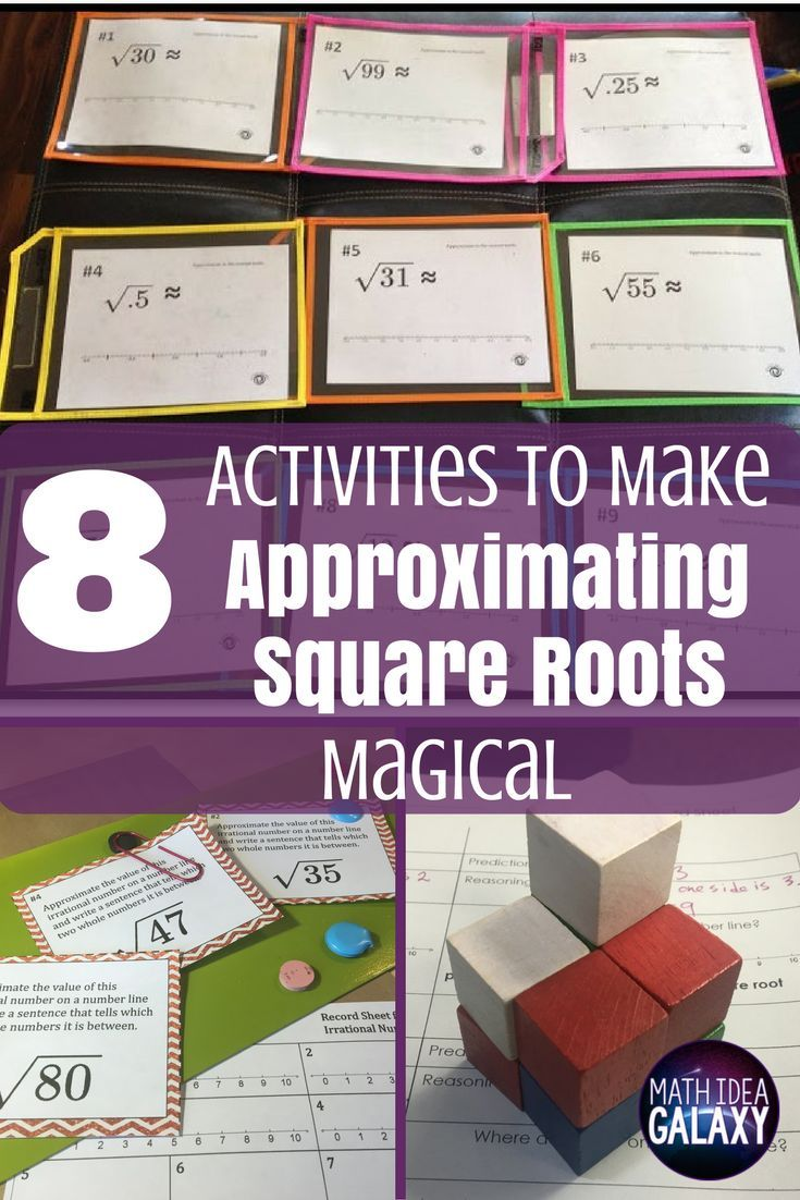 8 Activities To Make Approximating Square Roots Magical Square Roots Activity Middle School Math Square Roots [ 1102 x 735 Pixel ]