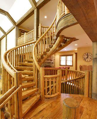 estilo rustico escaleras rusticas