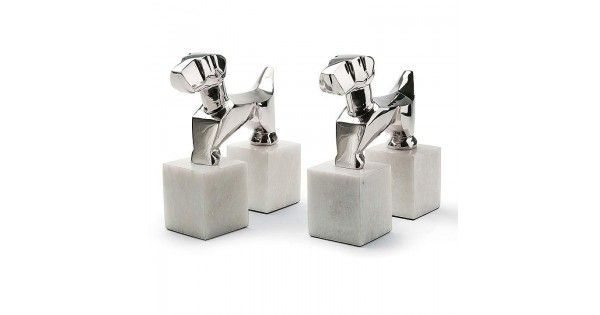 Pair of Terrier Book Ends - Home Accents - Home Decor  | Montreal Lighting & Hardware