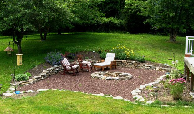 Http://fernrocklandscapes.com/projects/louden Patio Formerly In Ground Pool/ I  Like That You Could Do This With Some Mulch Or Gravel And Then Add Tu2026
