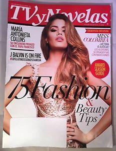 TV Novelas Magazine February Febrero 2016 Miss Colombia Maria Antonieta Collins  | eBay