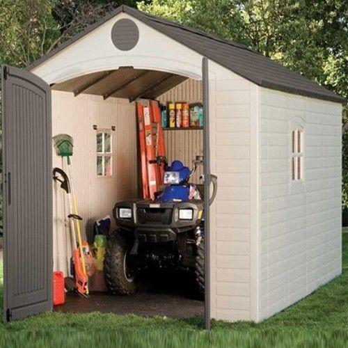 Garden Sheds Lifetime 8'x12.5' Heavy Duty Plastic Storage Shed Store Building #plasticgardensheds