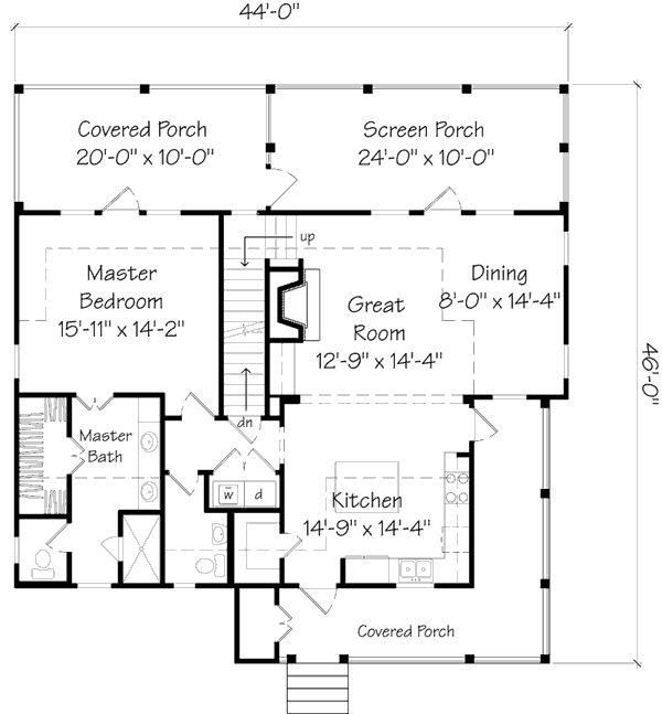 Home Plans   Square Feet, 3 Bedroom 3 Bathroom Cottage Home With