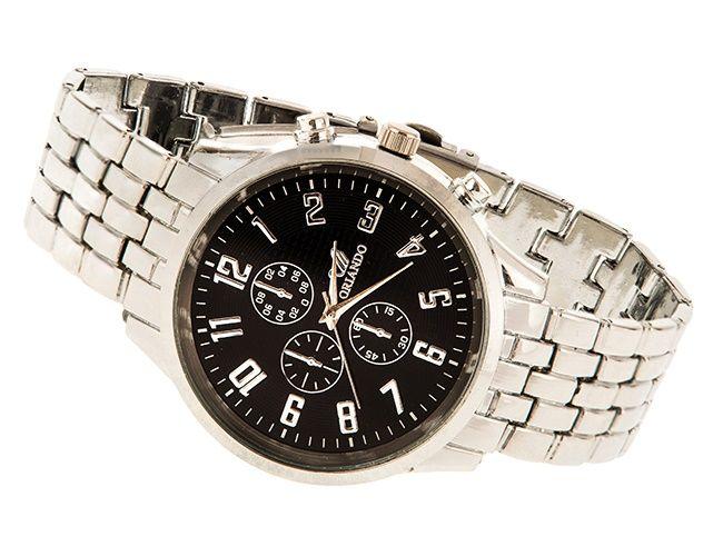 Srebrny zegarek Męski Stalowy ORLANDO SILVER