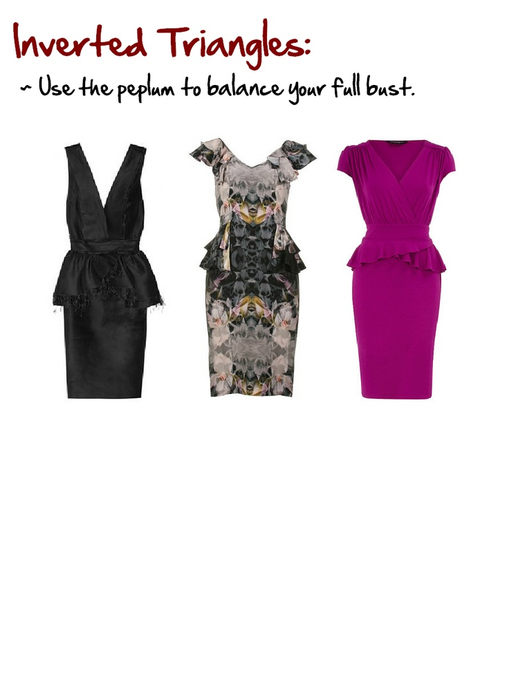 Inverted Triangles:  Women larger above the waist than below. www.myprivatestylist.com