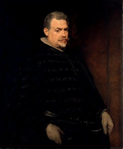 This portrait shows an older gentleman, which in all probability represents  the royal hunting master Juan Mateos. At the same time it is one of the  very fe...