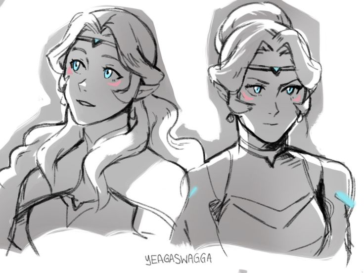"""Allura doodles, in two modes;motherly princess, and badass director of the universe's most powerful weapon."" by yeagaswagga"