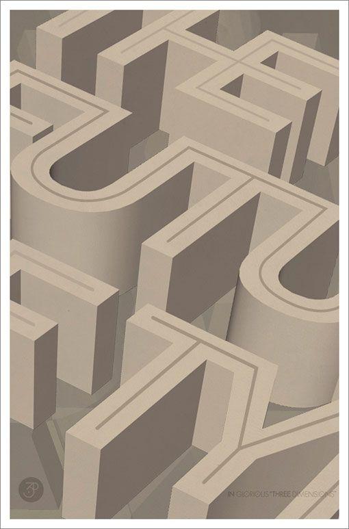 Tom Davie: 2011 Typographic Posters