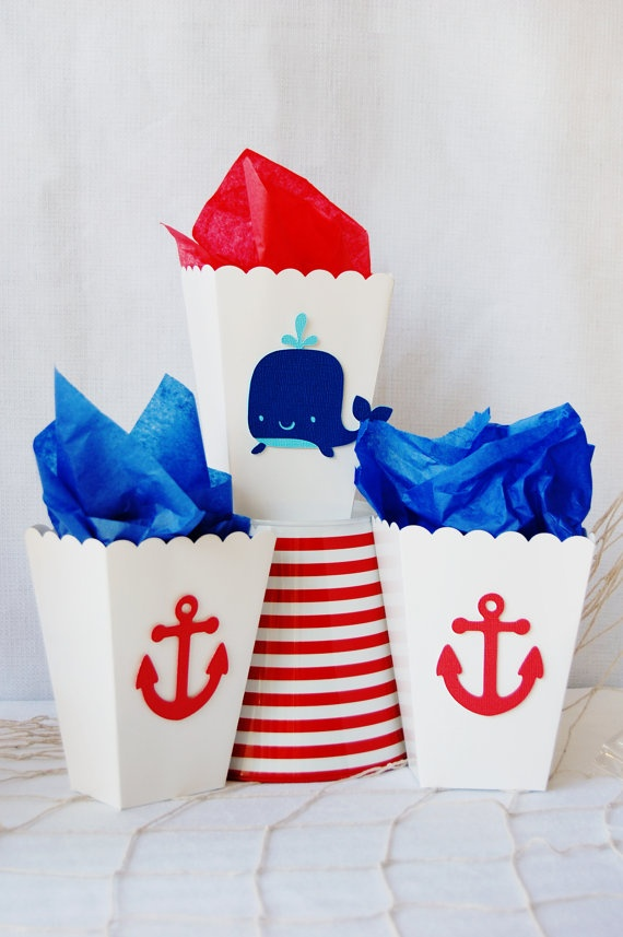 Nautical, Whale Favor Bags http://pinwheellane.etsy.com
