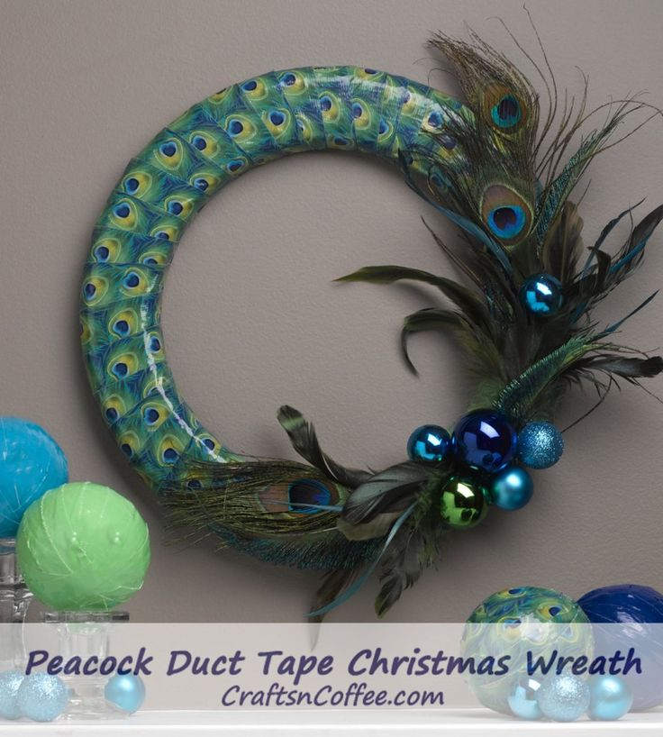 An elegant Christmas wreath made with duct tape? Yes! CraftsnCoffee.com