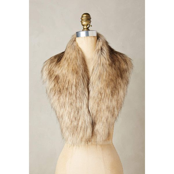 Ingara Faux-Fur Stole ($78) ❤ liked on Polyvore featuring accessories, scarves, brown, fake fur stole, brown shawl, faux fur stole, faux fur shawl and brown scarves