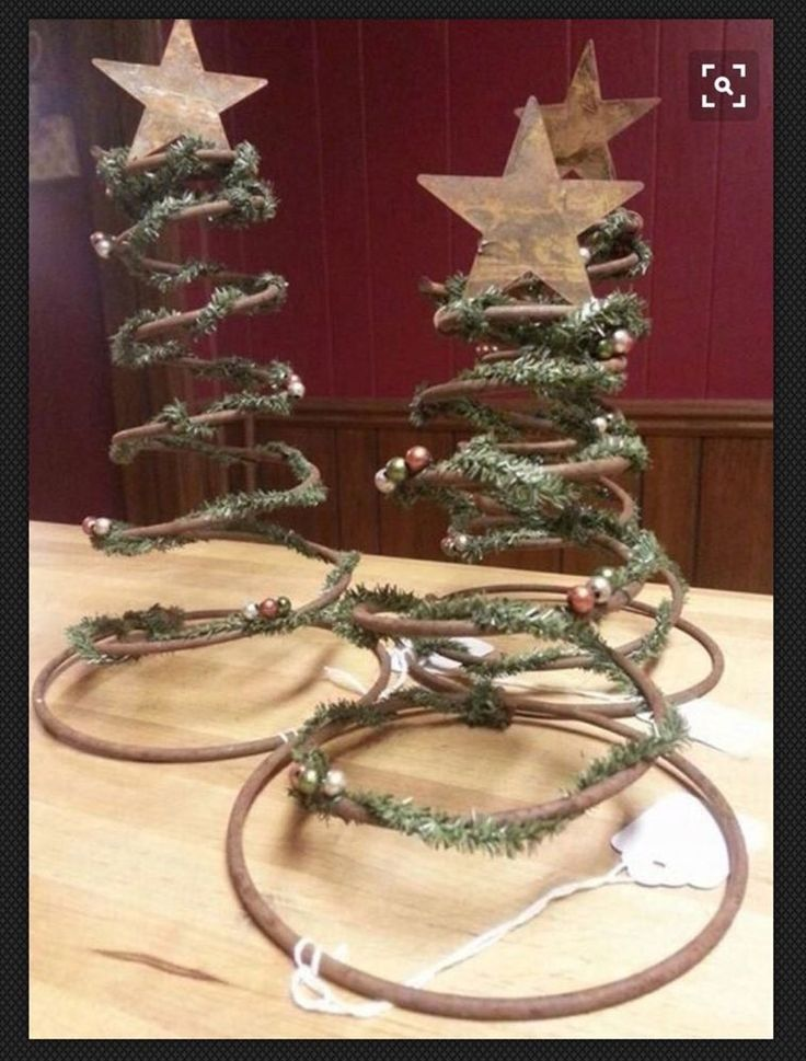 Vintage Christmas Crafts Decorations Angel Stars Pine Cones Rusty Bed Springs    eBay