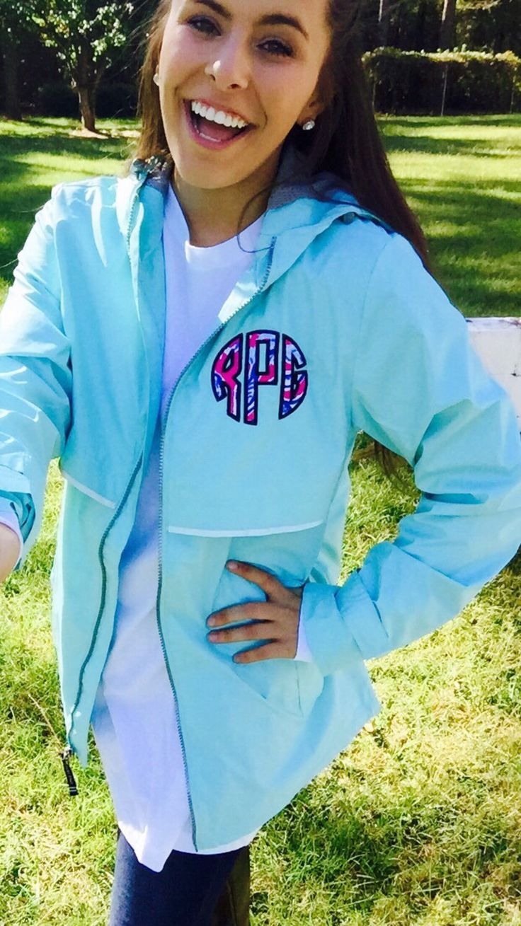 Preppy Charles River New Englander Rain Jacket with Lilly Pulitzer Double Monogram Wind Jacket by TantrumEmbroidery on Etsy https://www.etsy.com/listing/251491570/preppy-charles-river-new-englander-rain