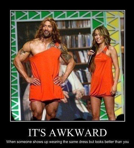 It's awkward…