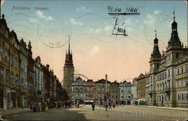 Náměstí Pardubice Czech Republic Eastern Europe