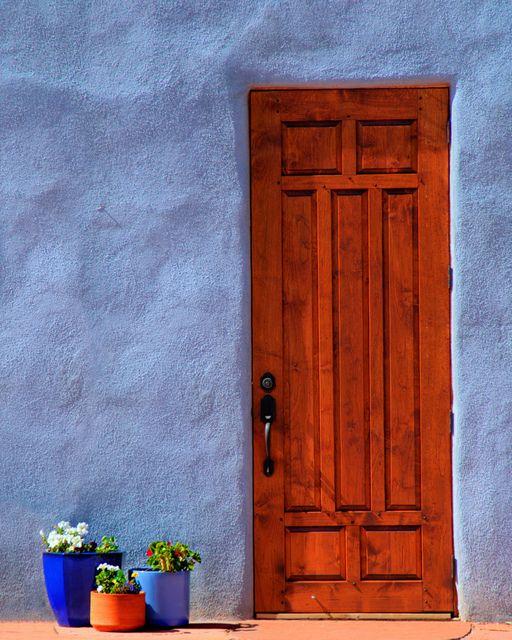 Abiquiu Door by TheBlindHog, via Flickr