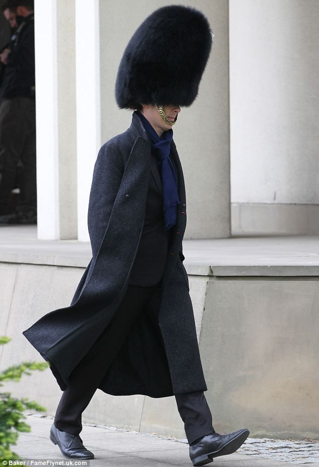 Hats off to you: Benedict Cumberbatch was spotted filming in London wearing a bearskin hat. (Mail Online, 27 May '13)