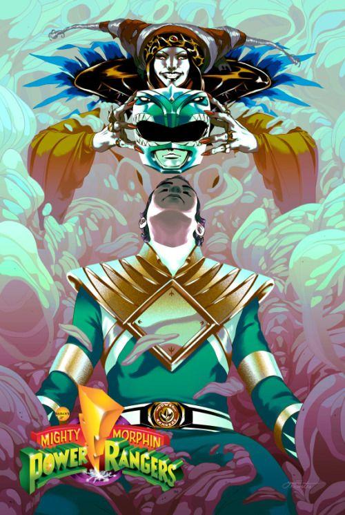 Green Ranger & Rita Repulsa by Goni Montes